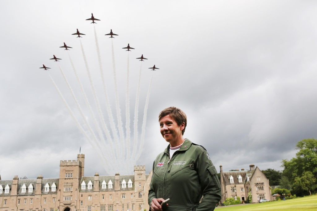 Glenalmond Red Arrows Flypast 2